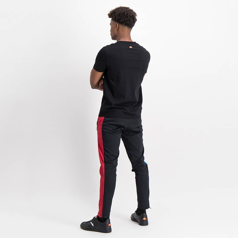 ELL1249B Mixed Fabric Split Panel Track Pants Black Red Blue ELW21 020B V7