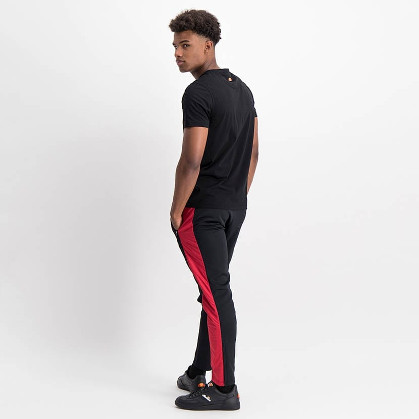 ELL1249B Mixed Fabric Split Panel Track Pants Black Red Blue ELW21 020B V8