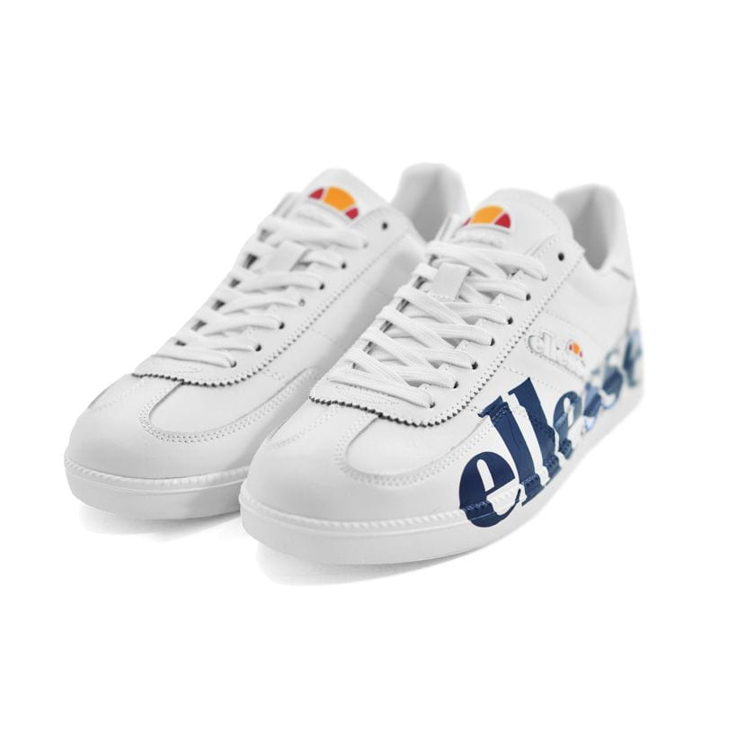ELL1300W ELLESSE CALCIO PRINT WHITE BLUE LOGO PRINT SHFU0295 V3
