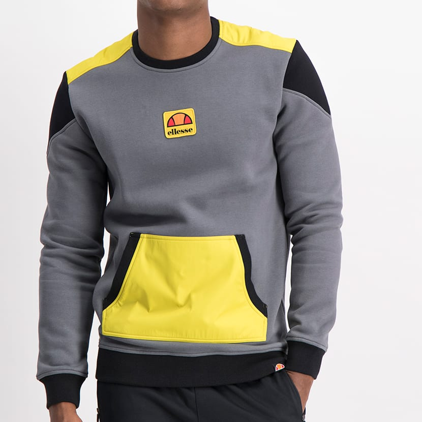 ELW21 142A MIXED FABRIC COLORBLOCK SWEAT TOP ELL1212CH 1
